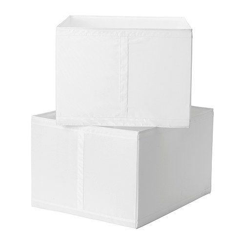 SKUBB  Contenitore  €14,99  Misure del prodotto  Larghezza: 44 cm  Profondità: 55 cm  Altezza: 33 cm  Quantità/confezione: 2 pezzi    spazio armadio 29x49 cm