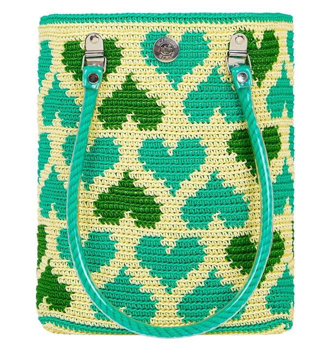Wayuu Mochila bag #heart #green #skippinggirl