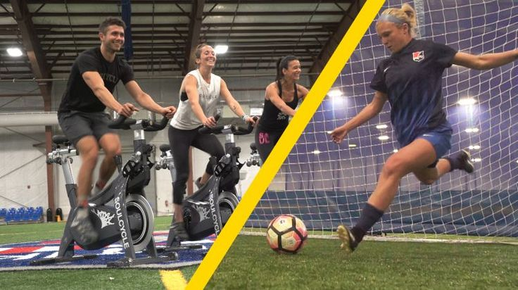 SoulCycle Instructors Try to Keep Up With the National Women's Soccer League on video.self.com