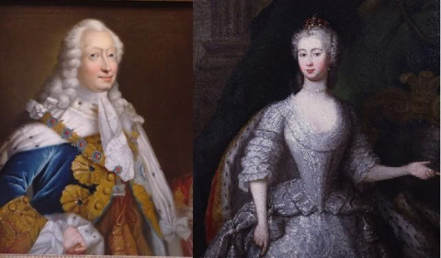 April 17, 1736: Frederick, Prince of Wales married Margravine Augusta of Saxe-Gotha-Altenberg at the Chapel Royal, St James's Palace
