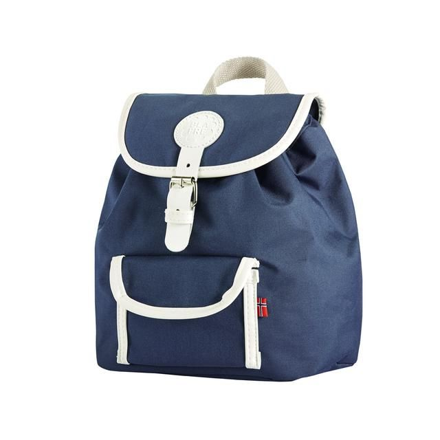 Designed in Norway by Blafre, the Backpack will make your little one stand out on the playground this season. Single compartment with a chord fastening. Small pocket outside with a snap button closure. Reflective detailing. Lightly padded and adjustable shoulder straps. Measures approximately 27 x 30 x 12 cm Shell: 100% Polyester Chord: 100% Cotton