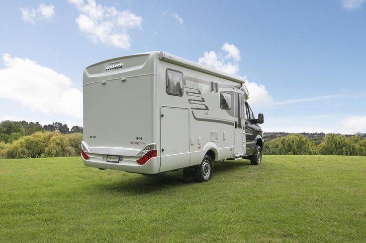 The Hymer ML T580  luxury campervan for sales comes with awning, solar panel and other extras. Feel free to use this image but give credit to http://smartrv.co.nz/motorhomes-for-sale/german/hymer/ml-t-580-4x4