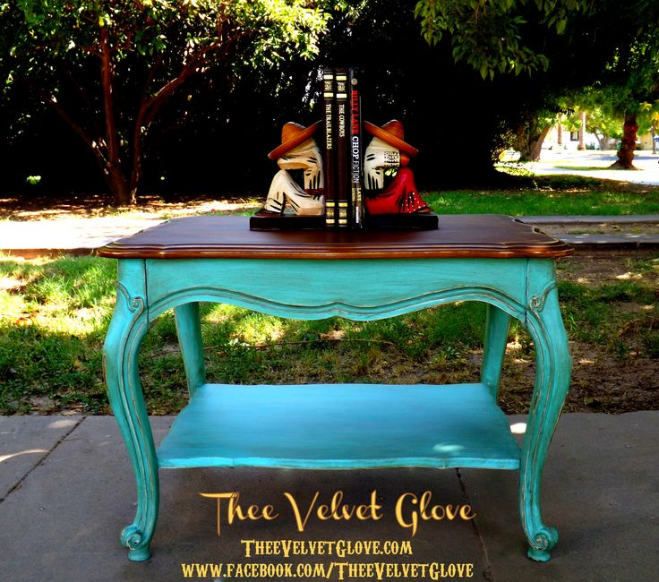 Distressed Turquoise Furniture | is painted in CeCe Caldwell's Santa Fe Turquoise then Distressed ...