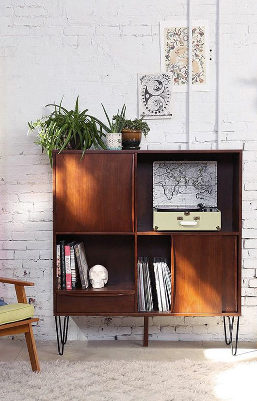 mid-century modern reproduction entertainment center. Add legs
