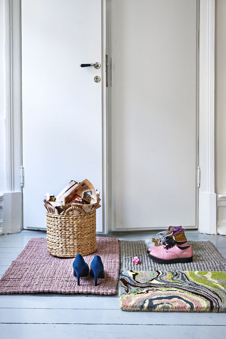 A little more colourful choice of entrence rugs