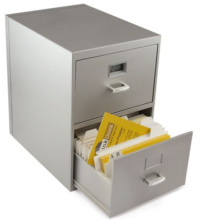 ThinkGeek :: Mini Business Card File Cabinet - too cute!