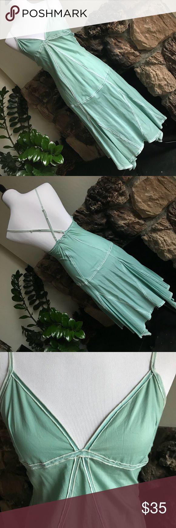 Poison Babe Aqua Blue Sundress Indie label from Indonesia Poison Babe Aqua Blue Dress with geometric details. Straps are adjustable. 100% cotton. Poison Babe Dresses