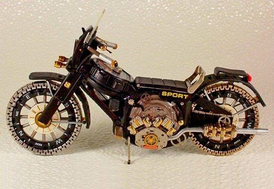 Motocicleta - sucata de relógio