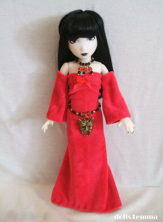 Emily the Strange Doll Clothes  Red Goth Gown DEMON by DOLLS4EMMA