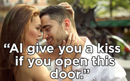 """Knock knock."" 
