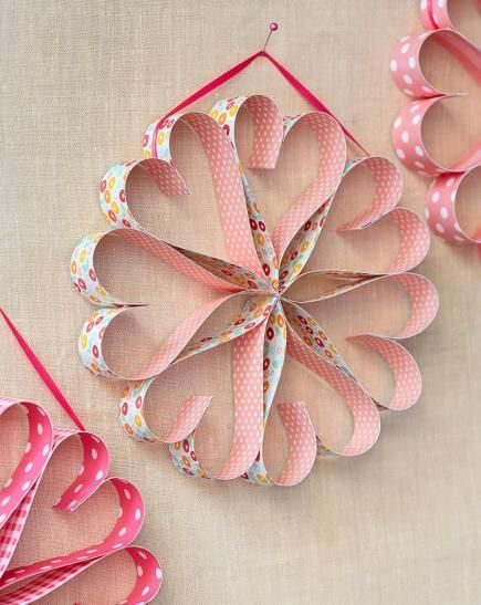 paper craft ideas for valentines day easy s day decorations and gifts wreath 7858
