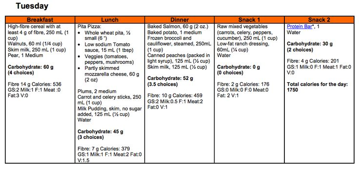 a diet plan for someone with type 2 diabetes