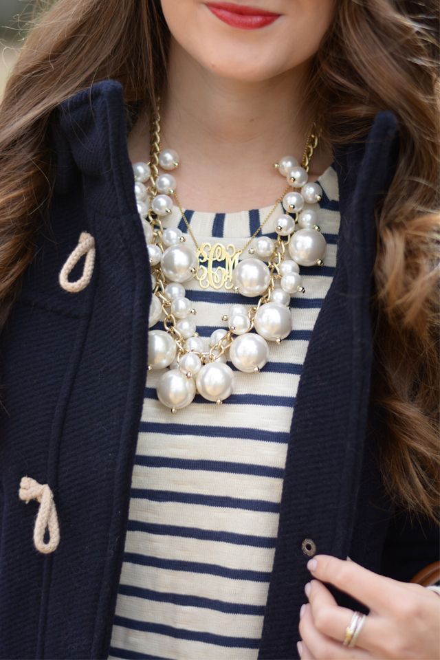 striped t-shirt plus fun necklace (might work for airplane going straight to turkey day!)