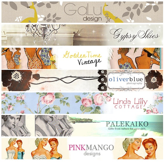 Custom Web Banner Design for Any Website Blog by jackandmolly, $75.00