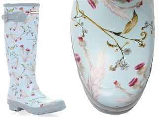 Hunter floral wellies.