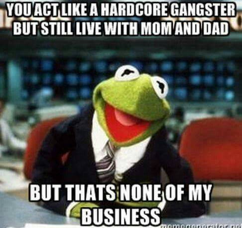 Kermit the frog driving motorcycle