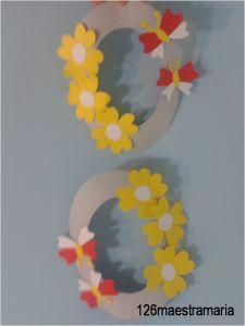 addobbo primavera Uova decorate con fiori