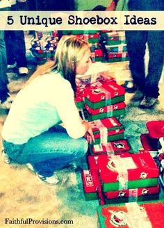 """5 Unique Christmas Shoebox Ideas """"God...will supply all your needs according to his glorious riches."""" Great article."""