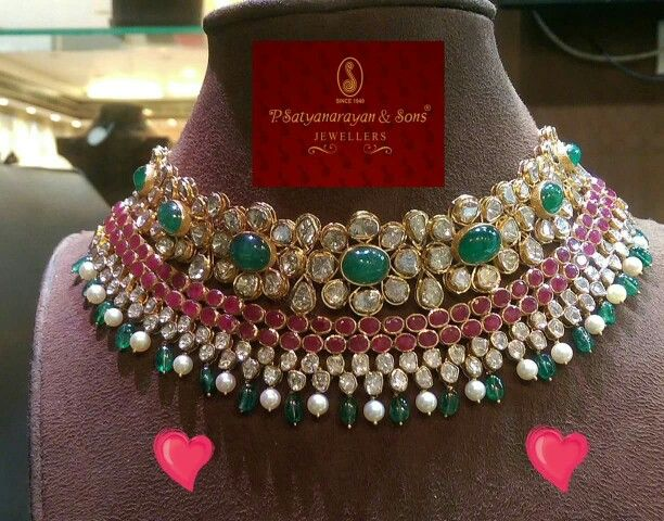 Hyderabadi Jewellery - Uncut Diamond choker