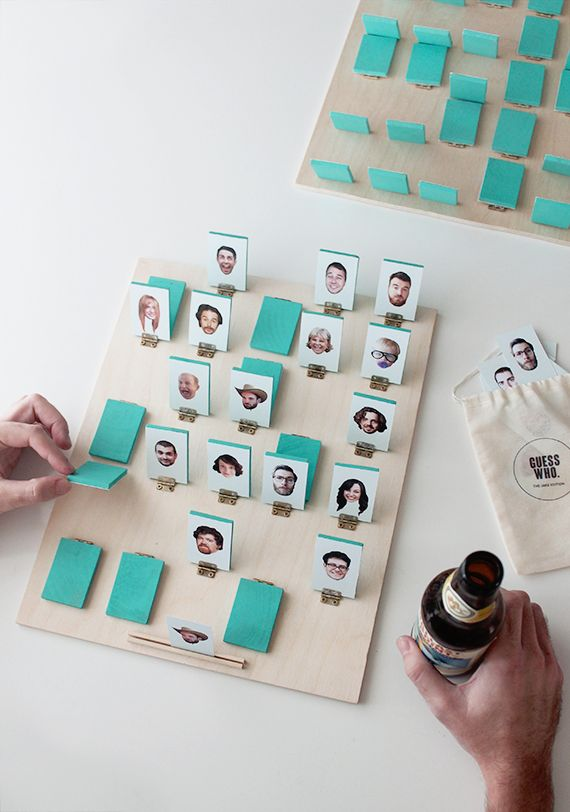 DIY your own personalized game of Guess Who with this tutorial. - Kids Crafts - Holiday Makes - DIY Board Games Diy Projects To Try, Craft Projects, Craft Tutorials, Diy For Kids, Crafts For Kids, Kids Fun, Fun Crafts, Diy And Crafts, Diys