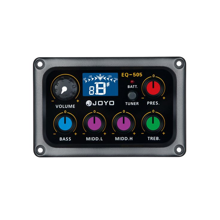 sale joyo eq 505 digital 5 band eq electric acoustic guitar pickup pick ups preamp tuner with lcd #pickup #accessories