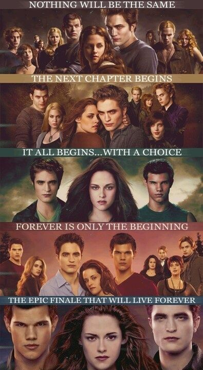 Twilight Saga – Twilight – New Moon – Eclipse – Breaking Dawn
