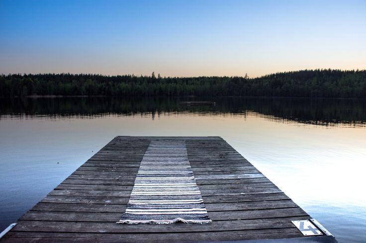 Patchwork liggande sjö