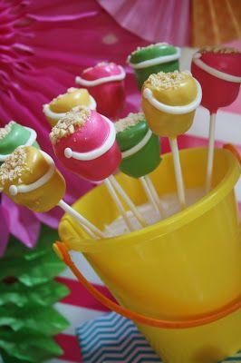 Sand Bucket Cake Pops