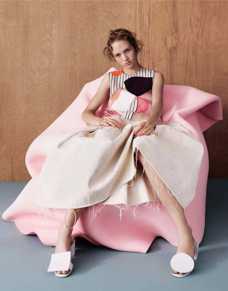 Frederikke Sofie, Adrienne Jüliger by Ben Toms for Vogue China January 2016 1