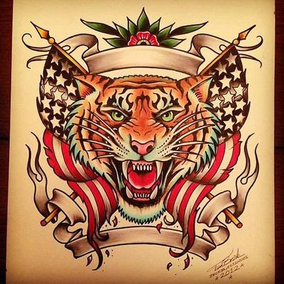 Tiger Tattoo Flash | KYSA #ink #design #tattoo