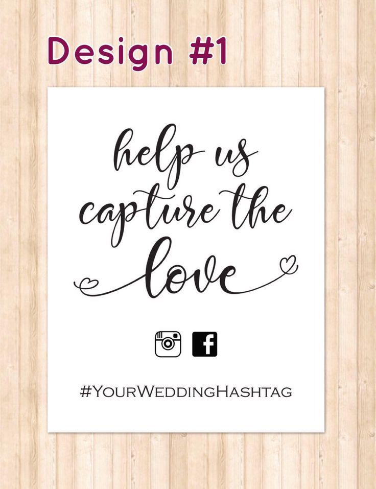 Help Us Capture the Love, Wedding Hashtag sign Editable