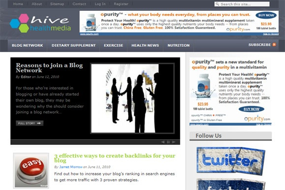 Health blog network recently launched
