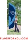 Titans Tall Team Flag 8.5' x 2.5'