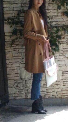 SEE-ON-PARK SHOULDER BAG Felt + Leather  Handbag