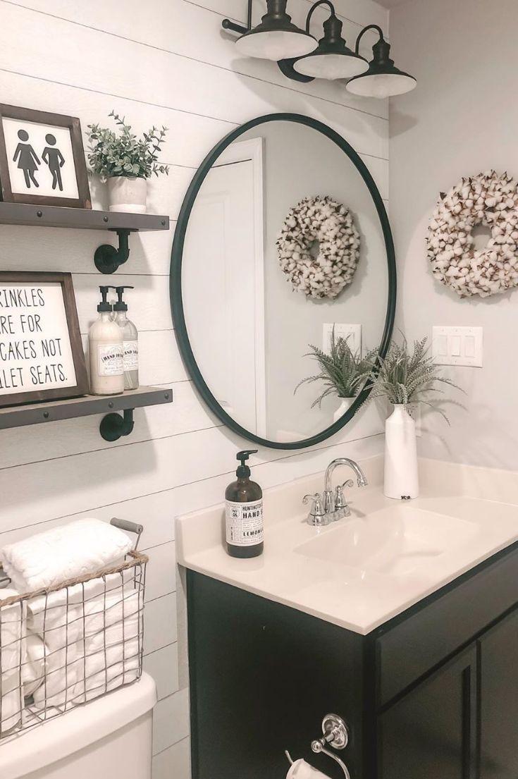 Farmhouse Bathroom Ideas Farmhouse Bathroom Decor Farmhouse Bathroom Mirrors Guest Bathrooms [ 1105 x 735 Pixel ]