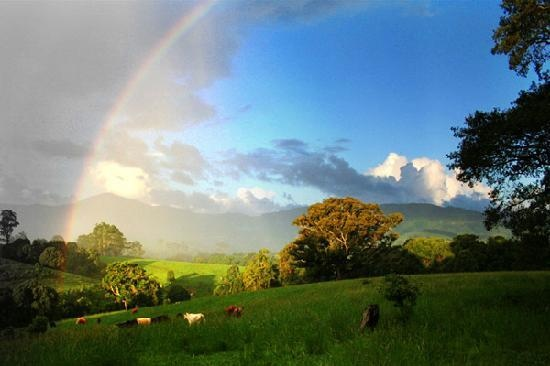 Nimbin, Australia - there was a rainbow when I visited too :-) Very magical place!