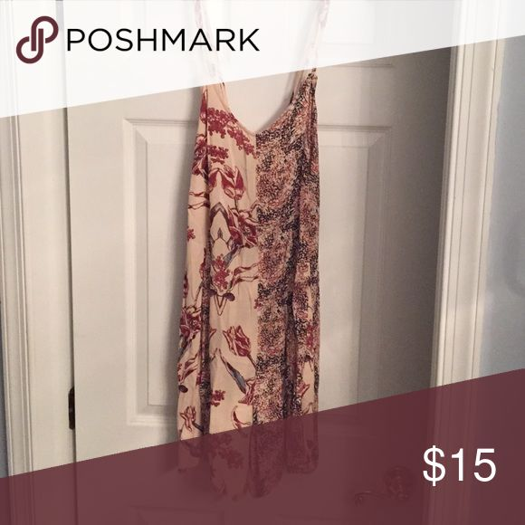 Free people printed romper The straps cross paths on the back! Free People Pants Jumpsuits & Rompers