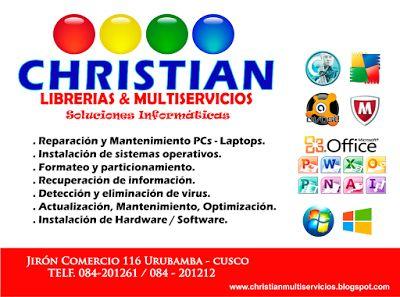 CHRISTIAN LIBRERÍAS MULTISERVICIOS: SOLUCIONES INFORMÁTICAS - SOPORTE TECNICO