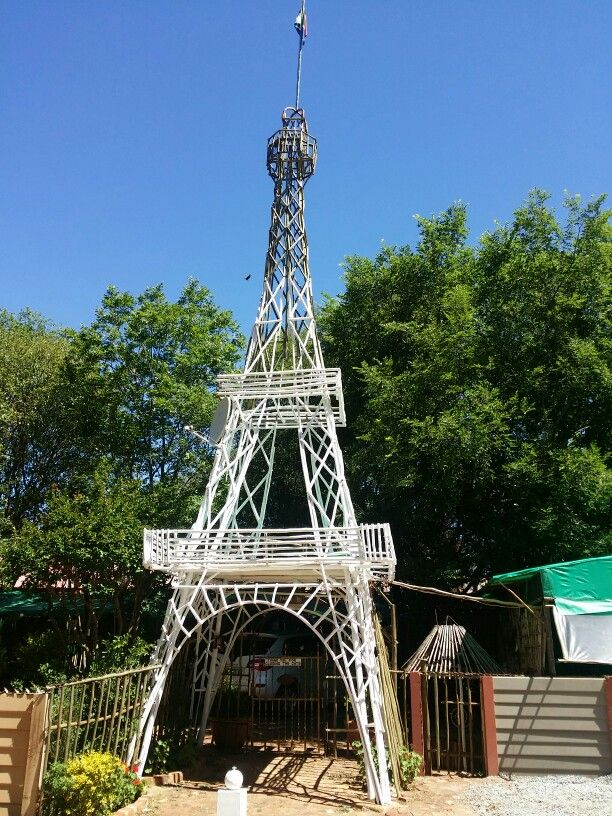 Eiffel tower at Paljas Backpackers Potchefstroom South Africa