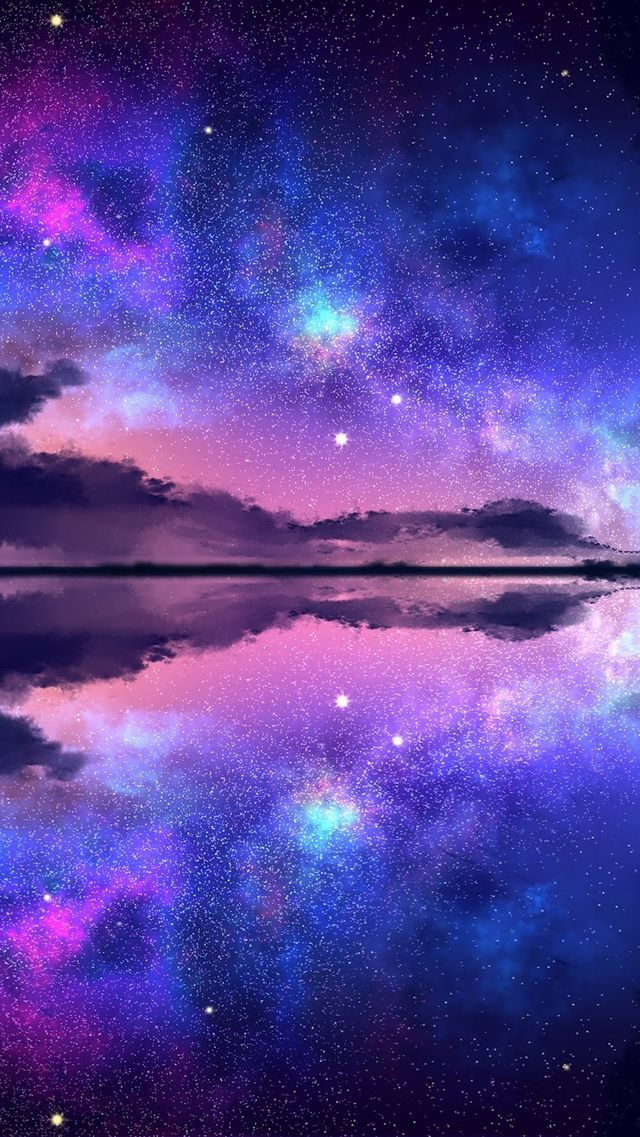 Pin By Huyền Tran On Picture In 2020 Sky Aesthetic Galaxy Wallpaper Anime Scenery Wallpaper