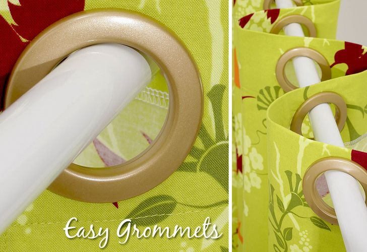 How To Install Dritz Home Snap On Plastic Grommets Sew4home Sewing Hacks Plastic Grommets Sewing Tutorials