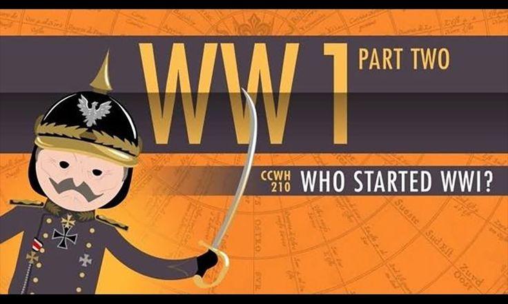 Crash Course Explains Who Started World War I - #education #history #wwi