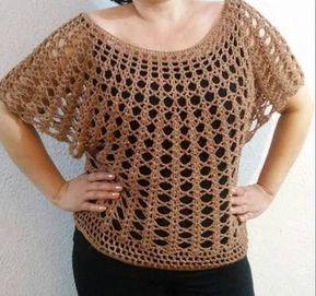 Resultado de imagen para blusas tejidas a crochet sin mangas