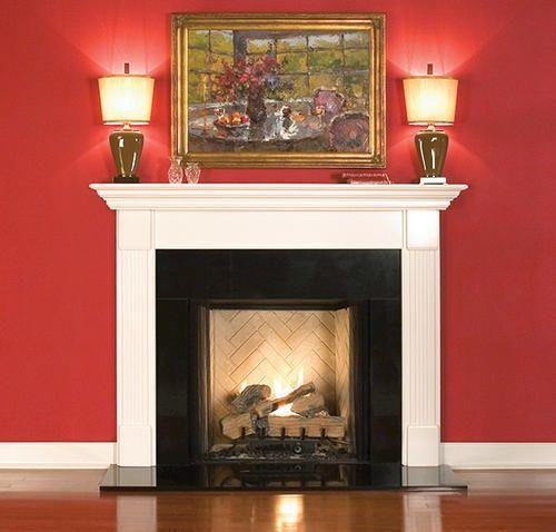 new mantelcraft premium primed white fireplace surround only kamingeblse kaminsimskamin werkzeugekaminideenkamin umgibthauskaminekaminsimse - Moderner Kamin Umgibt Kaminsimse