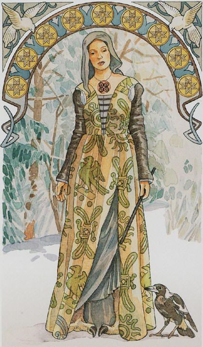 MS- Scheiben 9 of Pentacles - Are those talons for feet?