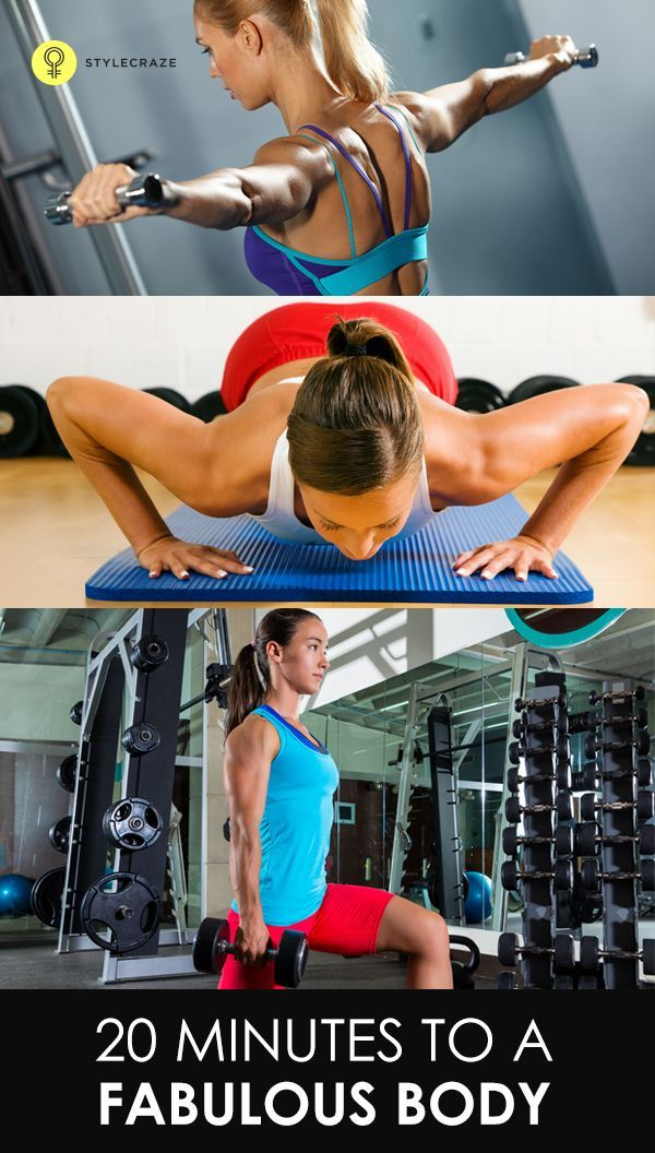 The 20-minute workout is made up of four circuits, which target specific areas and contain simple exercises designed to give you an effective full-body workout.