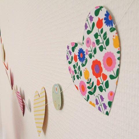 Paper garland DIY | Elske | www.elskeleenstra.nl