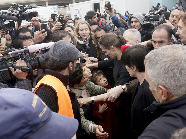 Angelina Jolie Pitt Warmly Greets Syrian Refugees in Greece After Lebanon Speech to 'Reinforce' Humanitarian Efforts| War, Good Deeds, Angelina Jolie