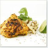 Hauts de cuisses de poulet grillés aux épices indiennes