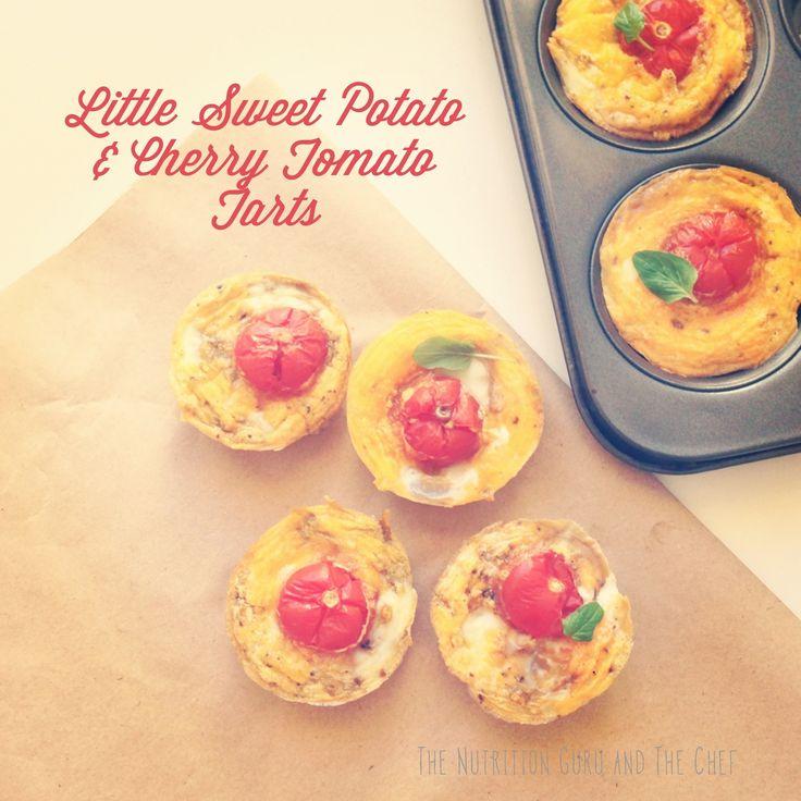 Little Sweet Potato and Cherry Tomato Tarts